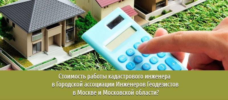 Стоимость работы кадастрового инженера в ГАИГ в Москве и Московской области?