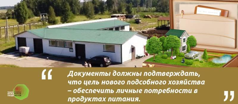 Илюстрация к статье формление ЛПХ земли в собственность документы. ферма чемодан коллаж с землей.